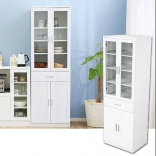 シンプル大容量! 食器棚 キッチンラック (キッチン収納)