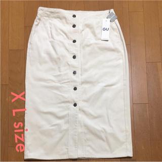 ジーユー(GU)のGU  コーデュロイフロントボタンタイトスカート X L(その他)