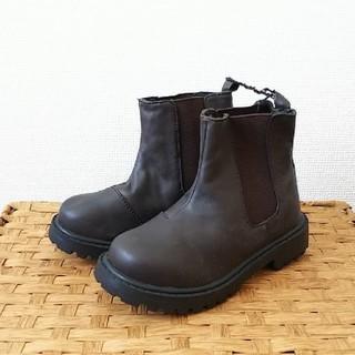 ジーユー(GU)の♪5点以上特別セール♪GU ジーユー BOYS サイドゴアブーツ ダークブラウン(ブーツ)