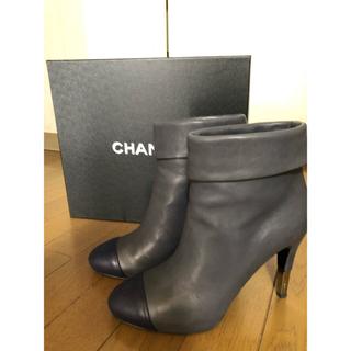 シャネル(CHANEL)のCHANEL  バイカラーショートブーツ サイズ38【美品】(ブーツ)