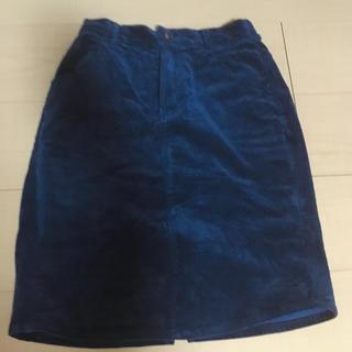 ダブルネーム(DOUBLE NAME)のコーデュロイ スカート シンプル ダブルネーム(ひざ丈スカート)