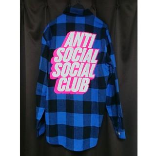 アンチ(ANTI)の希少 アンチソーシャルソーシャルクラブ ネルシャツ ブルー(シャツ)