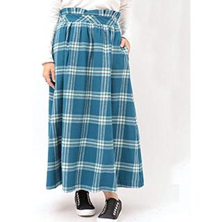 チチカカ(titicaca)のチチカカ プリマベラチェックスカート フレアースカート ロングスカート(ロングスカート)