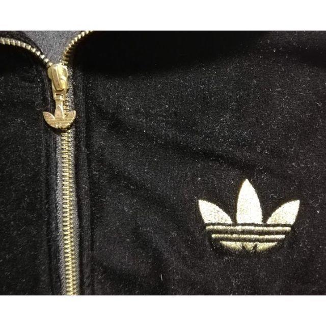 adidas(アディダス)の★アディダス ★ベロア★トレフォイル★ジャージ 黒金 メンズのトップス(ジャージ)の商品写真