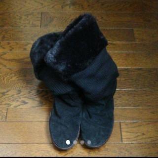 ナイキ(NIKE)のナイキ NIKE エアモック ブーツ スウェード×フェイクファー×ニット素材(ブーツ)