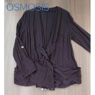オズモーシス(OSMOSIS)のオズモーシス*ドレープジャケット*変形カーデ(テーラードジャケット)