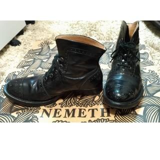 コムデギャルソン(COMME des GARCONS)のクリストファー ネメス nemeth ブーツ 靴 シューズ 25cm 革靴 黒(ブーツ)
