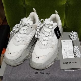 バレンシアガ(Balenciaga)のBALENCIAGA バレンシアガ トリプルS クリアソール 限定 白 41(スニーカー)