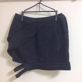 アゴストショップ(AGOSTO SHOP)のAGOST SHOP アシメタイトスカート(ミニスカート)
