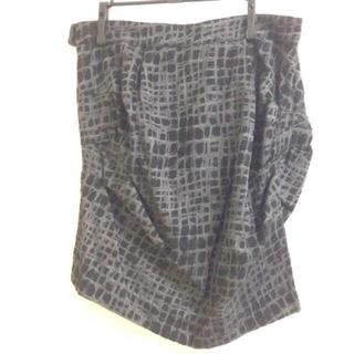 アゴストショップ(AGOSTO SHOP)のAGOST SHOP  BLACK PEARL 変形タイトスカート(ひざ丈スカート)