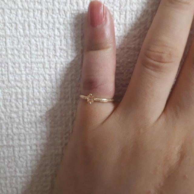 NOJESS(ノジェス)のノジェスストーンピンキーリング3号 レディースのアクセサリー(リング(指輪))の商品写真