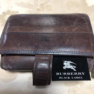 バーバリーブラックレーベル(BURBERRY BLACK LABEL)のバーバリー2つ折りメンズ財布(折り財布)