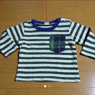 プティマイン(petit main)のプティマイン  petitmain  ボーダー  ロンT  90センチ(Tシャツ/カットソー)
