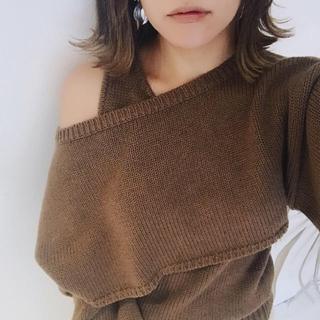トゥデイフル(TODAYFUL)のTODAYFUL Wool Ensemble Knit ブラウン 新品 ニット(ニット/セーター)
