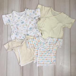 ニシマツヤ(西松屋)の✳︎かおり様専用✳︎新生児肌着 あったか素材 日本製 4枚組 (肌着/下着)