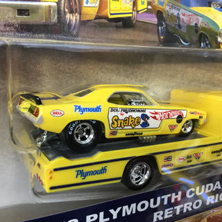 トランスポート(TRANSPORT)のホットウィール トランスポート '72プリムス クーダ ファニーカー&レトロリグ(ミニカー)