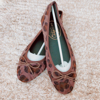 ダブルクローゼット(w closet)の靴 アニマル柄(バレエシューズ)