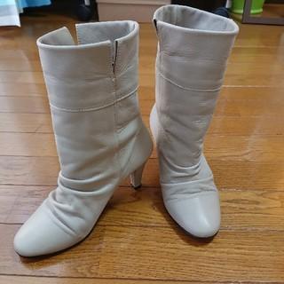 アンティカ(antiqua)のショートブーツ サイズS 本革(ブーツ)