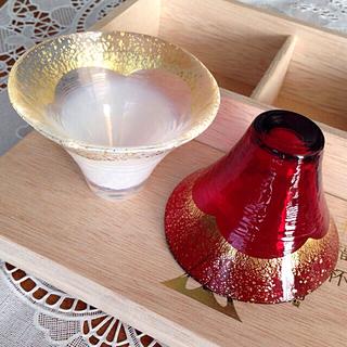 トウヨウササキガラス(東洋佐々木ガラス)の招福杯 富士山 TOYO-SASAKI-GLASS 冷酒杯 ※ お値下げ(グラス/カップ)