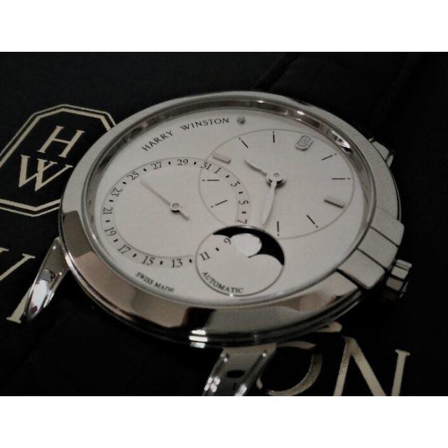 HARRY WINSTON(ハリーウィンストン)の①【国内正規品】ハリー ウィンストン★ミッドナイト・デイト ムーンフェイズ メンズの時計(腕時計(アナログ))の商品写真