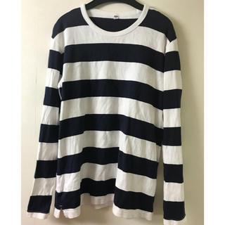ジーユー(GU)のボーダーT売り切り(Tシャツ/カットソー(七分/長袖))