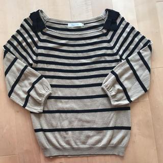 クチュールブローチ(Couture Brooch)のパールリボンニット♡(ニット/セーター)