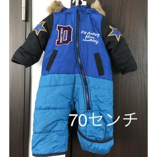 シマムラ(しまむら)のバースデイ☆ジャンプスーツ青 70センチ(カバーオール)