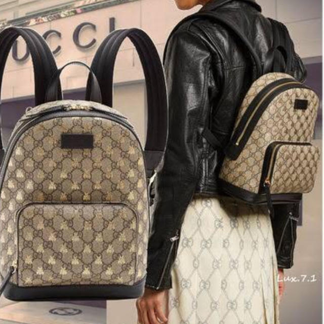 competitive price a11df e80a6 GUCCI グッチ バックパック ハチ ビー リュック