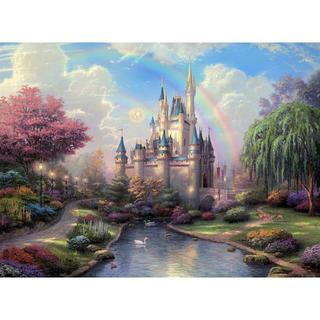 ディズニー(Disney)の※ぐりゃんりゃん様専用※【新品未使用】アートポスター 城 額付き 送料込み(アート/写真)