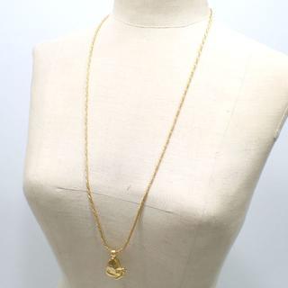 ジバンシィ(GIVENCHY)のA712 ジバンシィ ロング ネックレス ゴールドカラー 蝶モチーフ(ネックレス)