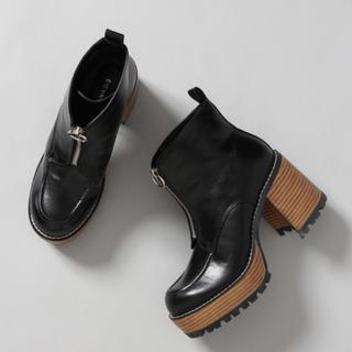 ジーナシス(JEANASIS)のジップデザインヒールブーツ Medium(ブーツ)
