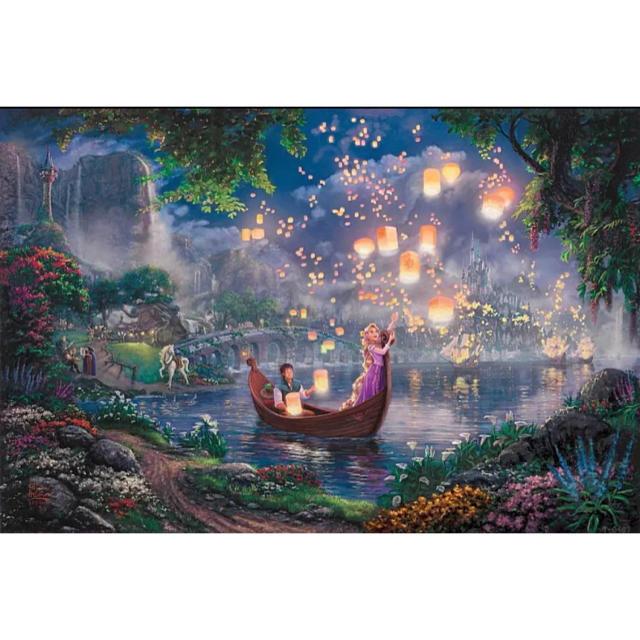 Disney(ディズニー)の【新品未使用】アートポスター 城 額付き 送料込み エンタメ/ホビーのアニメグッズ(ポスター)の商品写真