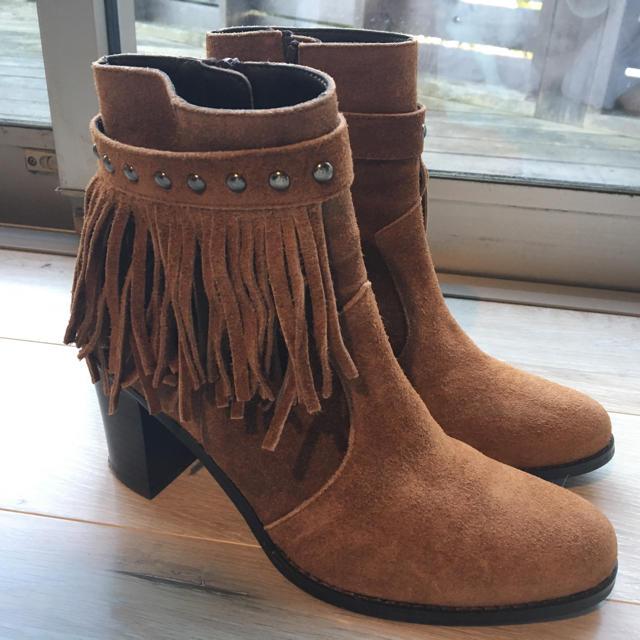 BARCLAY(バークレー)の【美品】バークレー フリンジ付ブーツ レディースの靴/シューズ(ブーツ)の商品写真