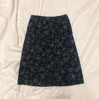 ロキエ(Lochie)のスカート 花柄 デニムスカート (ひざ丈スカート)