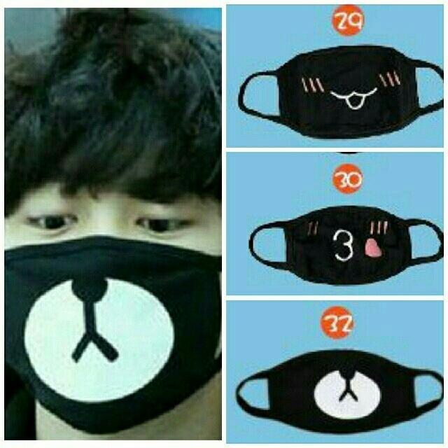 ハトムギ マスク / 黒マスク くま ブラックマスク 布 マスク おしゃれ どうぶつおもしろ ねこの通販