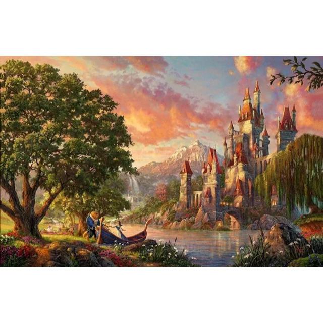 Disney(ディズニー)の【新品未使用】アートポスター 美女と野獣 額付き 送料込み エンタメ/ホビーのアニメグッズ(ポスター)の商品写真
