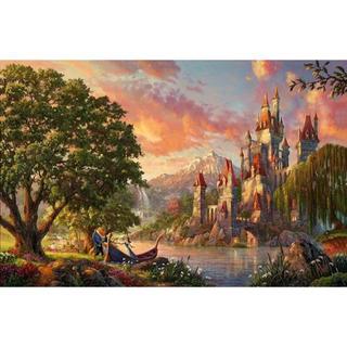 ディズニー(Disney)の【新品未使用】アートポスター 美女と野獣 額付き 送料込み(ポスター)