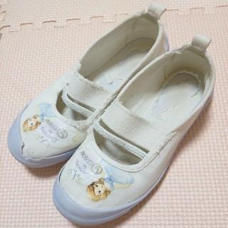 ディズニー(Disney)の小さなプリンセスの上履き18センチ(スクールシューズ/上履き)