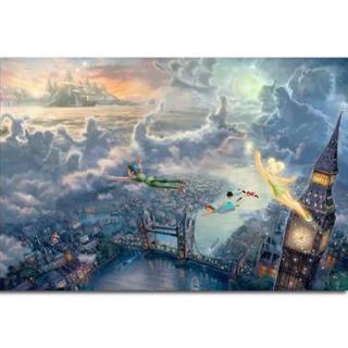 ディズニー(Disney)の【新品未使用】アートポスター ピーターパン 額付き 送料込み(ポスター)