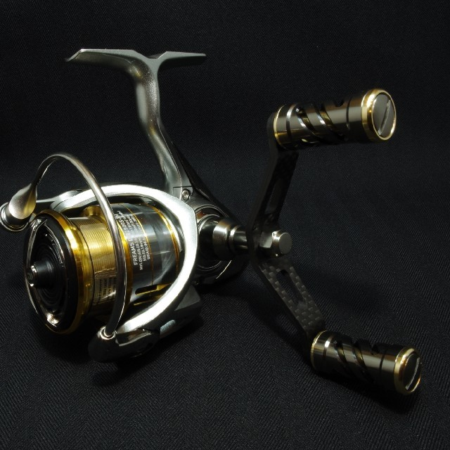 Gun Gun Gun Metal Gold Daiwa Double Handle Custom Part For Spinning Reel 5b6985