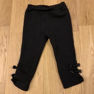 しまむら - 美品★裾リボン裏起毛レギンスパンツ 黒90