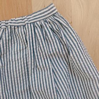 マーキュリーデュオ(MERCURYDUO)のMERCURYDUO ストライプ フレア スカート(ミニスカート)