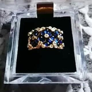 ポンテヴェキオ(PonteVecchio)のポンテヴェキオ 豪華なサファイアとダイヤモンドのリング 30万円近くするそうです(リング(指輪))