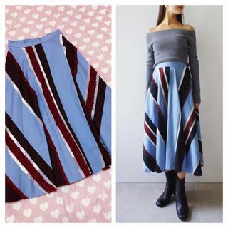 フレイアイディー(FRAY I.D)の2017a/w モールストライプスカート(ロングスカート)