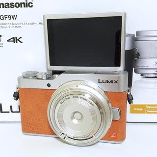 パナソニック(Panasonic)の格安❤️LUMIX GF9 シルバーレンズセット オレンジ パナソニック(ミラーレス一眼)