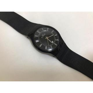 スカーゲン(SKAGEN)のスカーゲン 黒ベルト腕時計(腕時計)