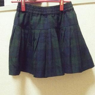 ローリーズファーム(LOWRYS FARM)の♥土日限定♥グリーンチェックスカート(ミニスカート)