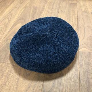 アースミュージックアンドエコロジー(earth music & ecology)の美品 earth music & ecology 今期新作 モールニットベレー帽(ハンチング/ベレー帽)