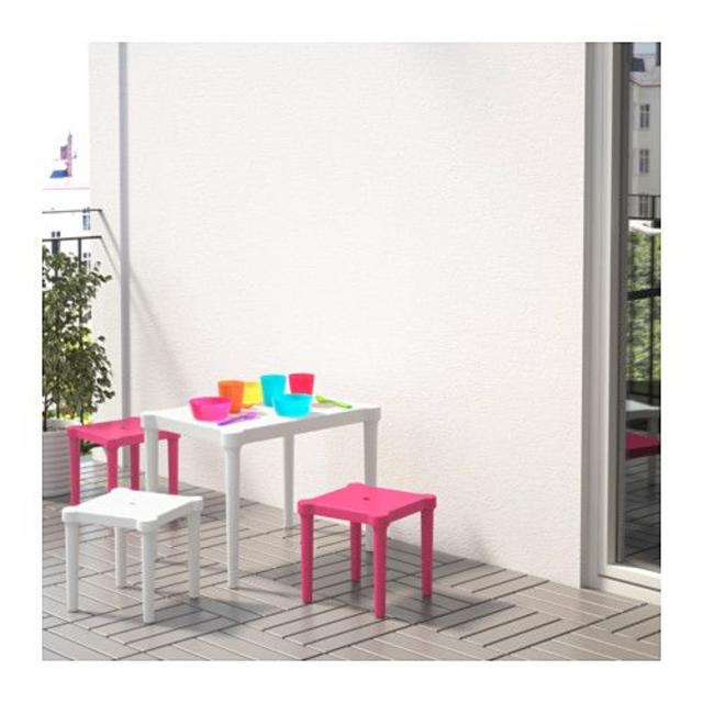 IKEA(イケア)の★子供用テーブル(白) 室内でも外でもOK!!アウトドア インテリア/住まい/日用品の机/テーブル(アウトドアテーブル)の商品写真