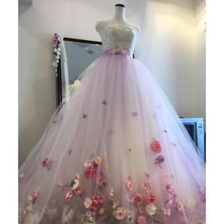 ウェディングドレス用 オーバードレス、ブーケ&ブートニア、ヘア用フラワーセット(ウェディングドレス)